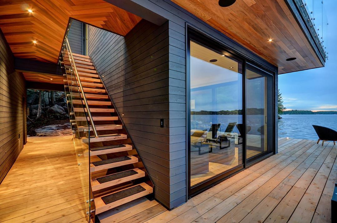 Contemporary Boathouse in Muskoka