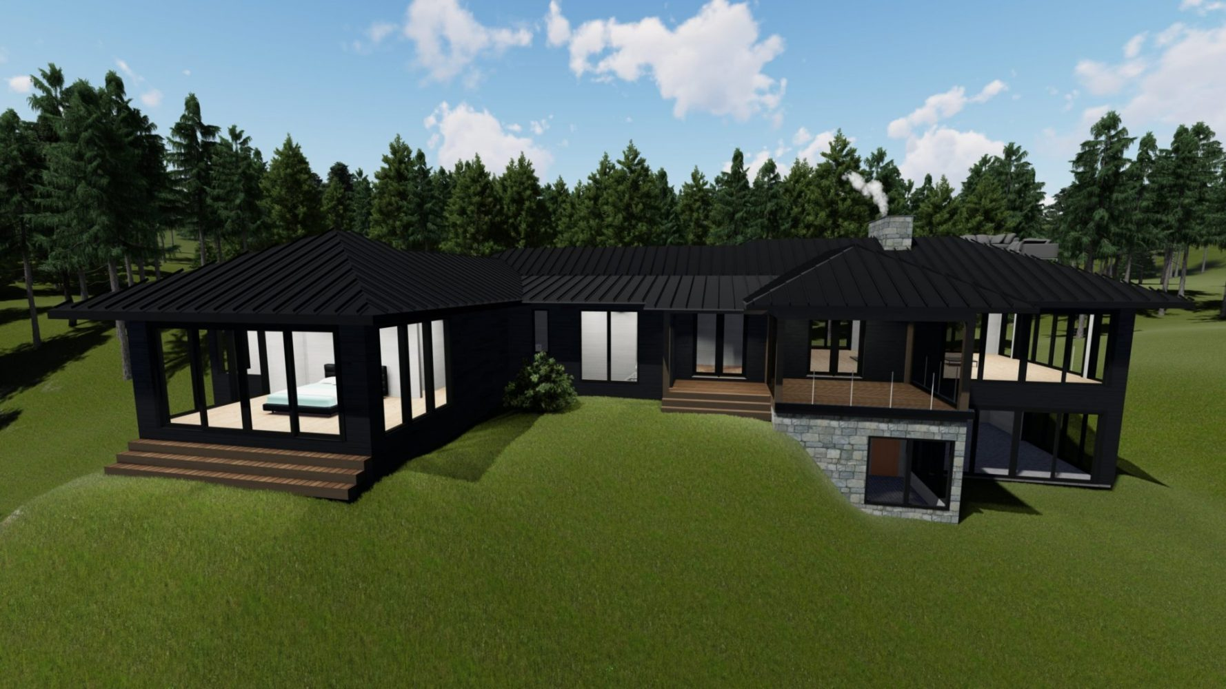 3D rendering of a contemporary cottage by PattyMac