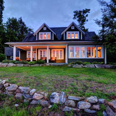 Traditional Lake Muskoka cottage with sizeable lakeside porch