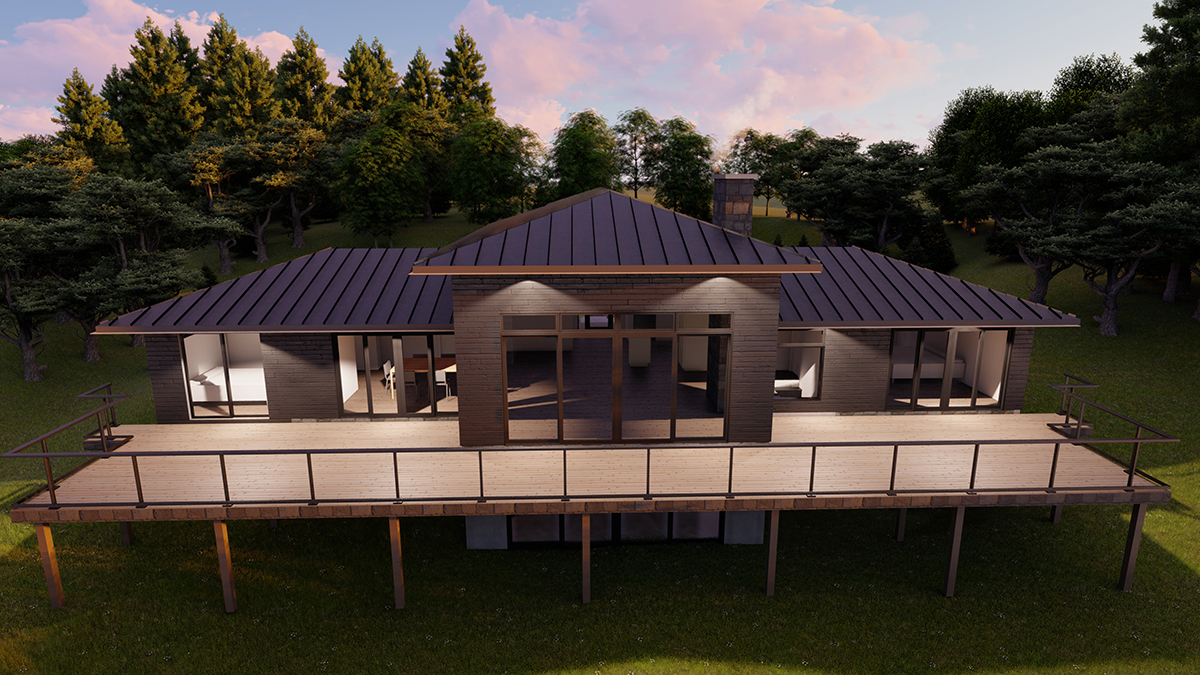 Contemporary Cottage rendering by Spencer Douglas and PattyMac