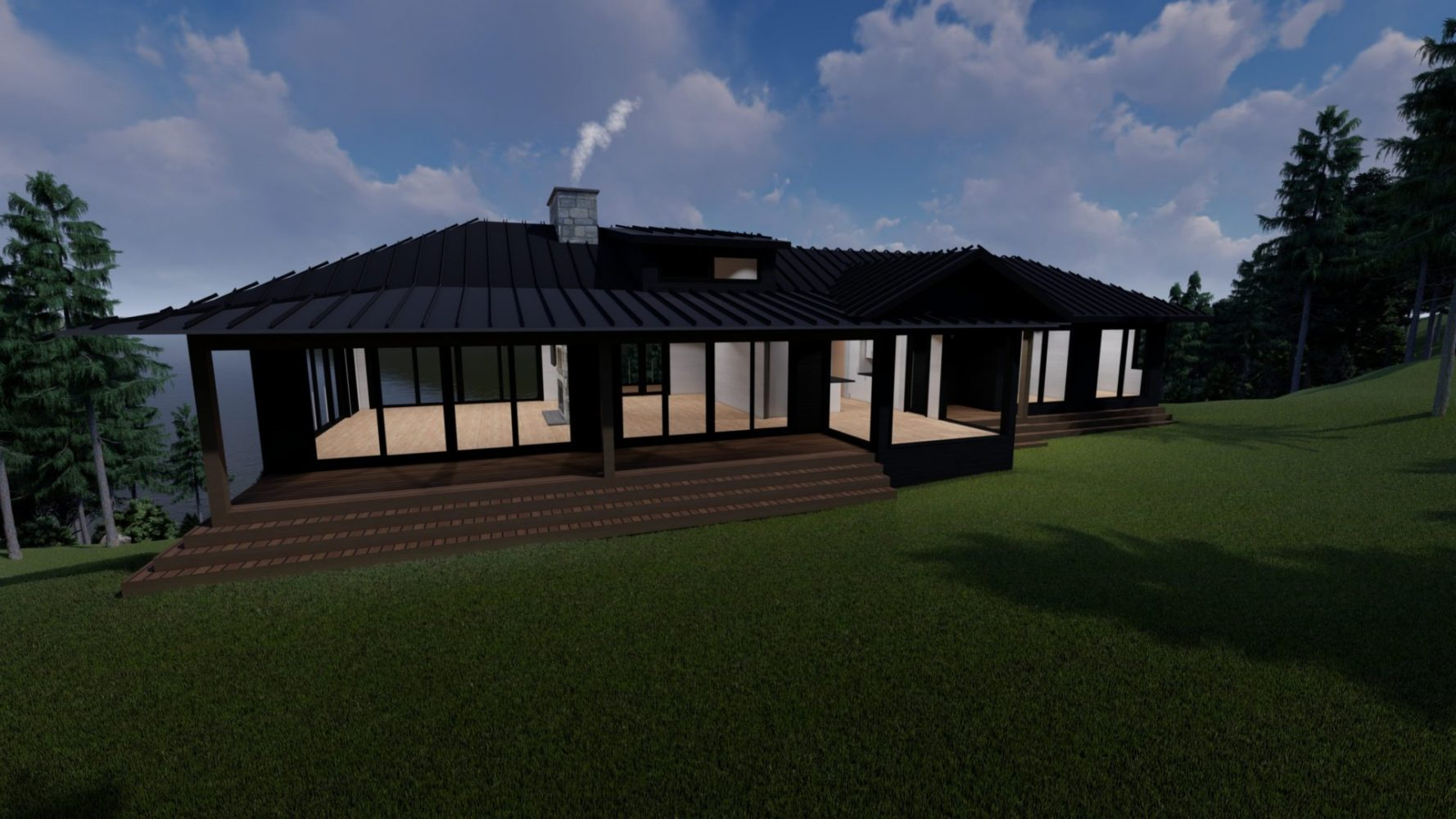 Contemporary cottage rendering by PattyMac