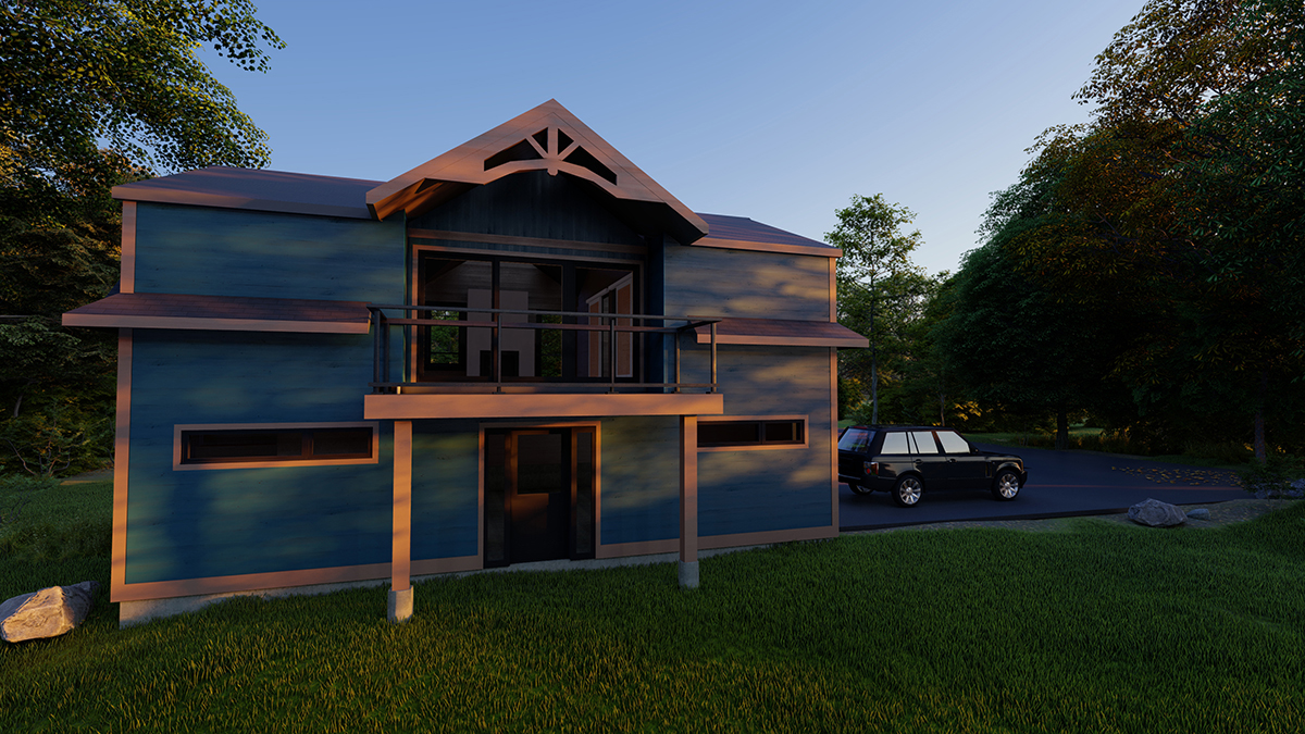 Mockup of a garage in a traditional Muskoka style by PattyMac
