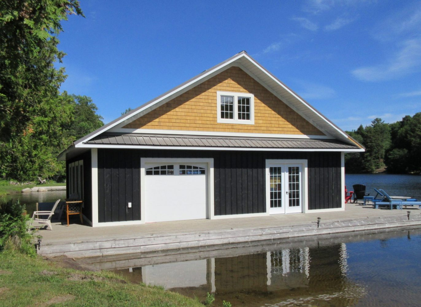 Boathouse built by PattyMac in Muskoka