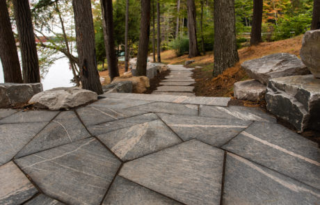 Landscaping by PattyMac for a Muskoka compound