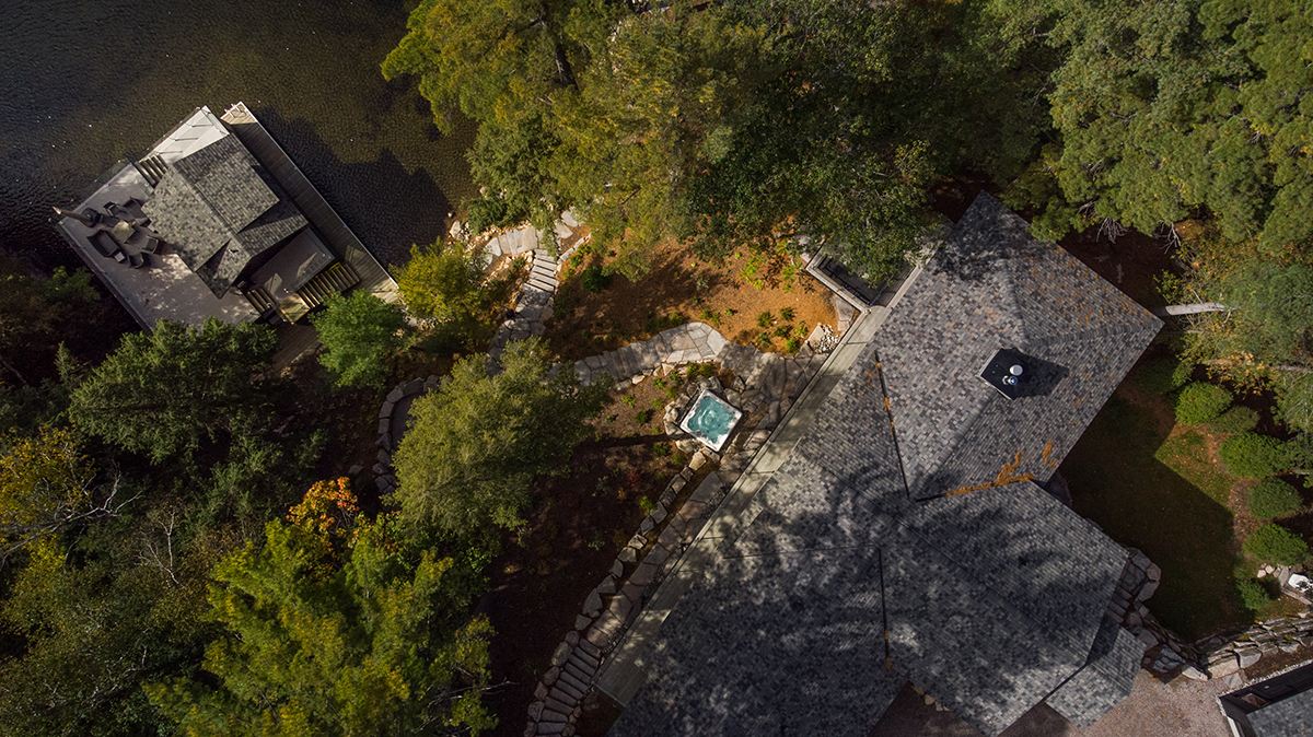 Aerial view of landscaping by PattyMac