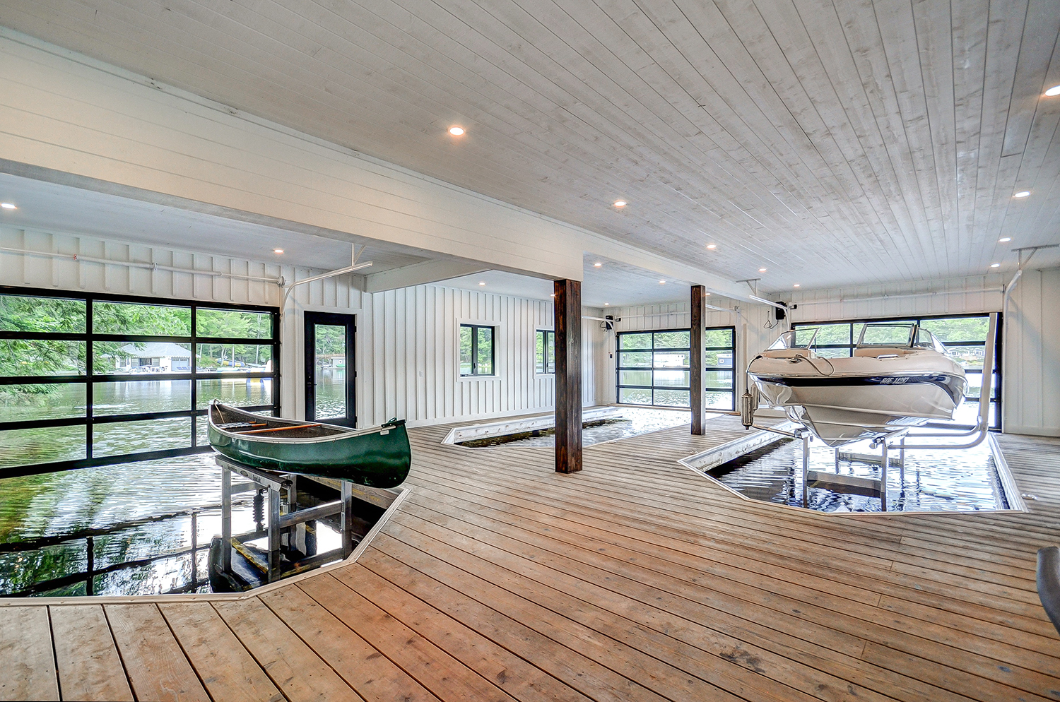3 slip finished interior boathouse with spot for a canoe by PattyMac