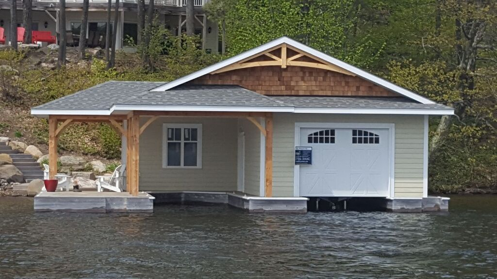 One slip single level boathouse built by PattyMac