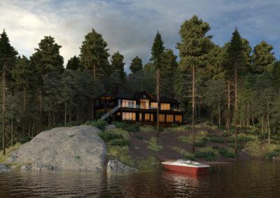 3D Renderings of luxury cottage in Muskoka