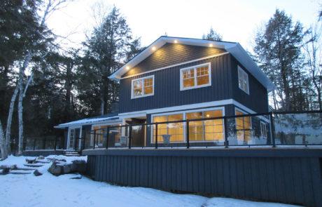 Blue Muskoka cottage by PattyMac